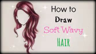 step by step hairstyles to draw drawing tutorial how to draw and color soft wavy hair