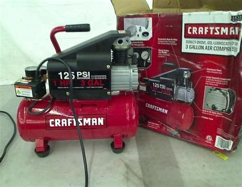 craftsman 3 gallon 125 psi 1hp air compressor ebay