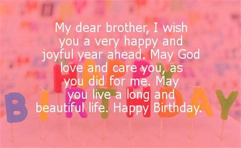 My Wish For You And Yes Happy Birthday My Dear Brother I Wish You A Very Happy And Joyful Year