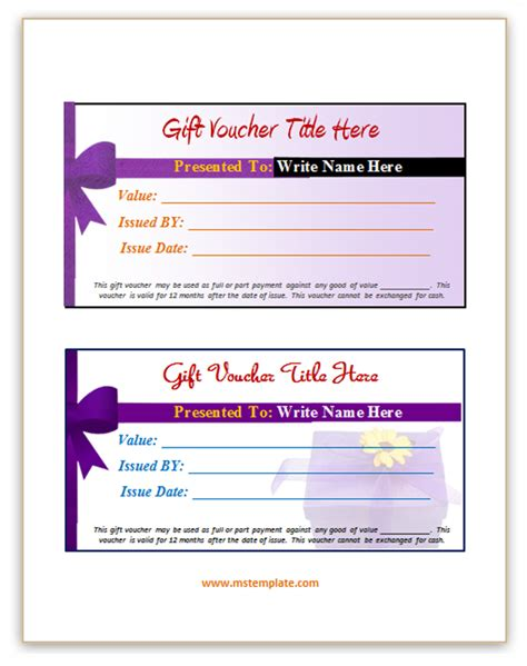 voucher template microsoft office templates gift voucher template