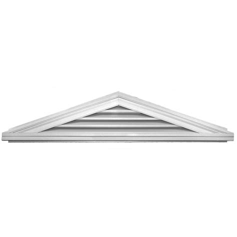 builders edge 4 12 triangle gable vent 001 white