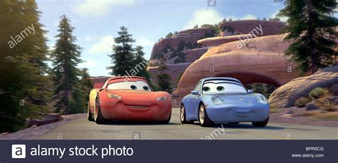 cars sally and lightning mcqueen lightning mcqueen sally cars 2006 stock photo