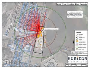 west explosion map map of west fertilizer plant explosion horizon