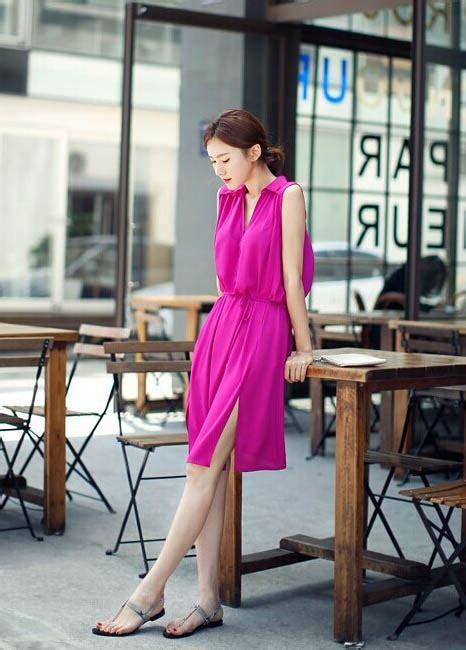Dress Sipon dress sifon lengan buntung model terbaru jual murah