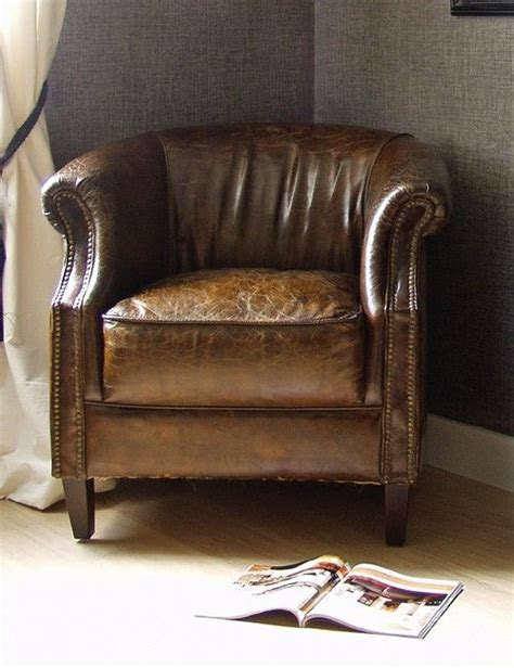 vintage leather club chair just style