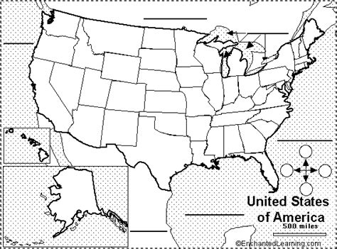 united states map and compass find your state label me printout enchantedlearning