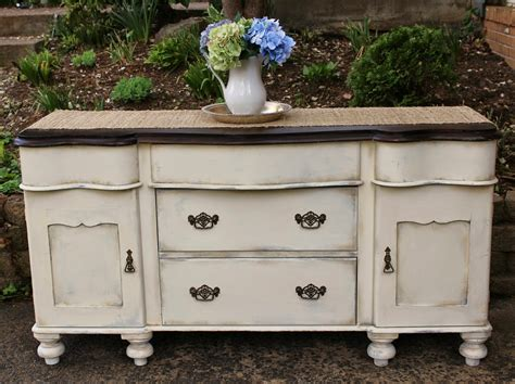 vintage country style buffet rehab