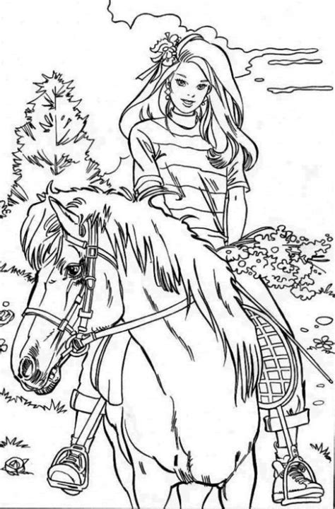 coloring page girl riding horse horse and rider printable coloring pages riding horses