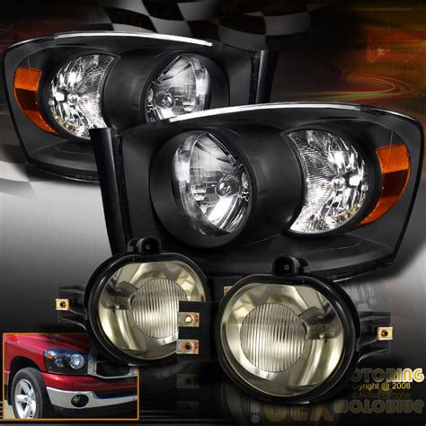 2006 dodge ram 2500 fog lights 2006 2007 2008 dodge ram 1500 2500 3500 black headlights