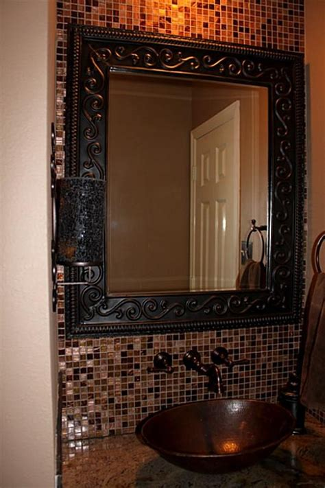 mosaic tile bathroom mirror 31 ideas of using mosaic tile around bathroom mirror