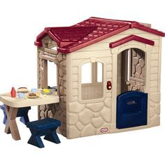 tikes playhouse green roof chimney tikes deluxe home and garden playhouse garden