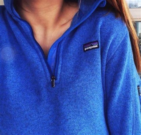 Lsl Sweater Move On Fleece jacket blue sweater half zip patagonia wheretoget
