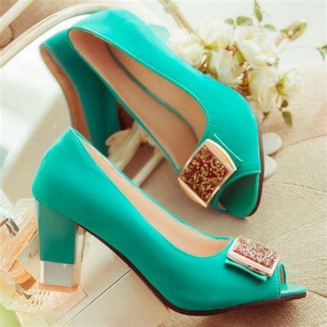 Sepatu Sandal Platform Heels Chunky Size 43 ksjywq peep toe mint green high square heel platform pumps