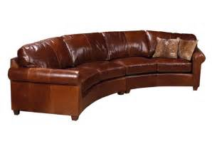Curved Leather Sectional Sofa Curved Sofas Urbancabin