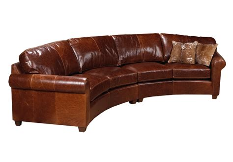 Curved Sectional Sofa Leather Curved Sofas Urbancabin