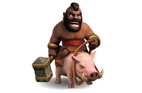 coc hog rider image coc hogrider jpg clash of clans wiki
