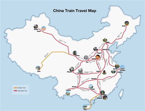 china railway maps  train map  high speed rail