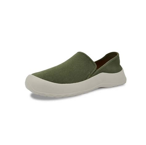 softscience drift canvas slip on shoes green