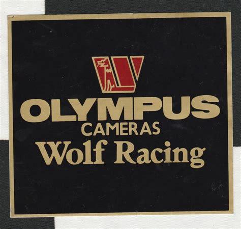 Aufkleber Wolf Racing by Walter Wolf Racing F1 Team Olympus Cameras 1979 Original