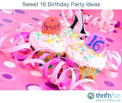 Sweet 16 Birthday Party Ideas Thriftyfun Newhairstylesformen2014com | sweet 16 birthday party ideas thriftyfun