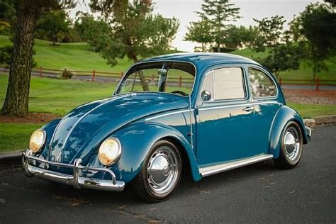 A Vintage Blue Vw Bug Vw Air Cooled Pinterest