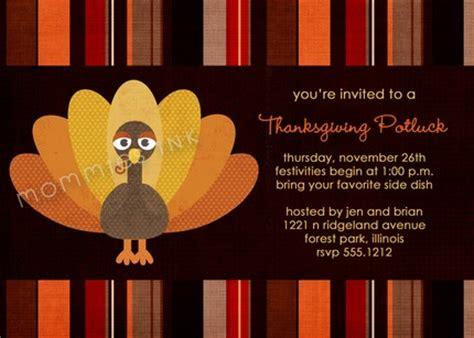 tom turkey thanksgiving potluck invite printable