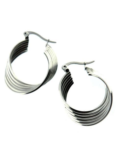 hypoallergenic stainless steel hoop earrings