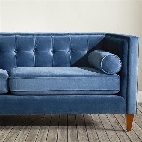 teal tufted sofa dwellstudio tufted sofa in teal reviews wayfair