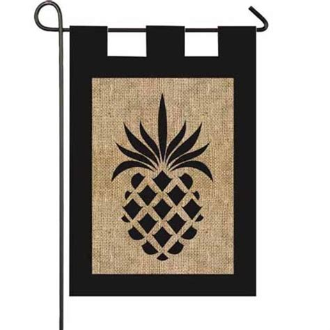 decorative flags for the home pineapple burlap garden flag