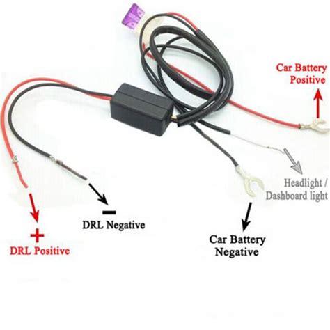 12v car led daytime running light relay harness drl