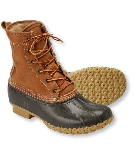 llbean boots s tumbled leather l l bean boots 8 quot shearling lined