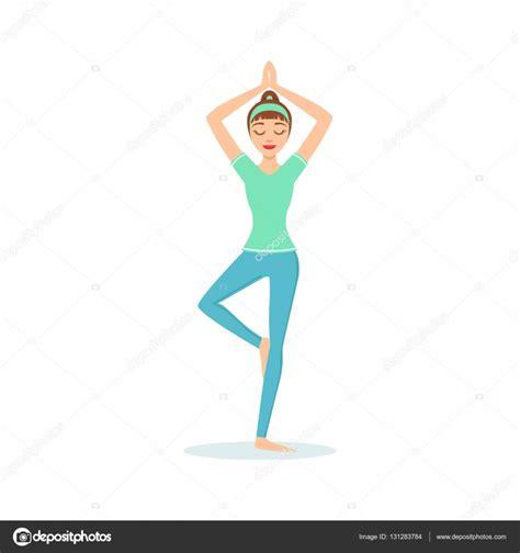 imagenes yoga animadas 193 rbol vriksasana yoga pose demostrado por el yogui dibujos