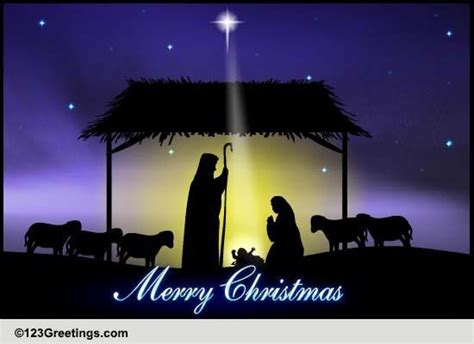 christmas holy night  religious blessings ecards greeting cards