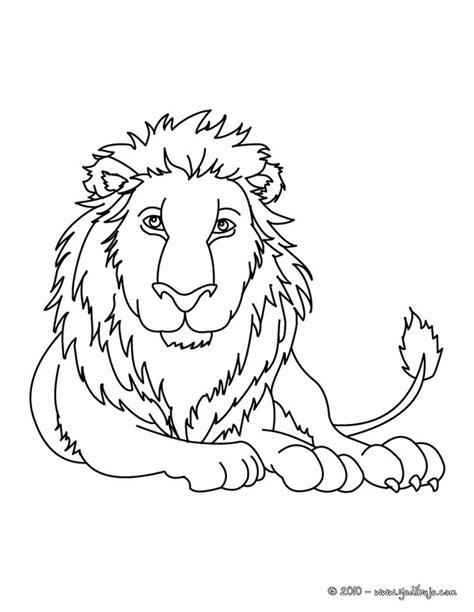 dibujos para colorear de leones actividades infantiles y dibujos para colorear leon es hellokids com