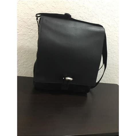 Handbag Montblanc 236 2 1 montblanc black leather messenger bag tradesy