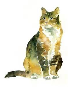 water color cat watercolour cat source oceanicities cats 1
