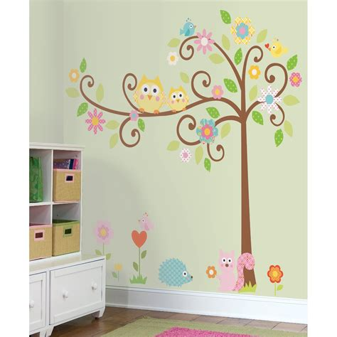 space bedroom stickers how to paint a tree mural off the wall