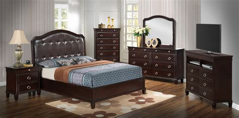 Cappuccino Bedroom Furniture by Furniture G9000 4 Bedroom Set In Cappuccino