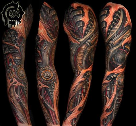 biomechanical sleeve tattoo designs best 25 biomechanical ideas on