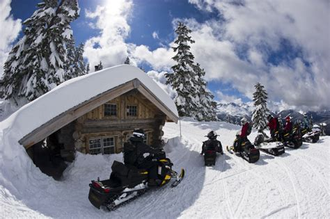 Snowmobile Cabin by Snowmobile To Breakfast At Our Backcountry Cabin