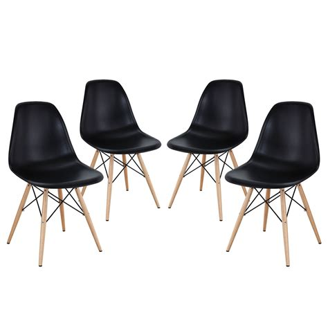 Dining Room Chairs Plastic Pyramid Modern Molded Plastic Dining Side Chairs With