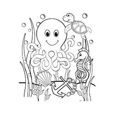 underwater themed coloring pages image gallery ocean underwater coloring