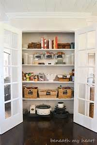 our organized pantry beneath my