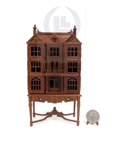 doll house table miniature 1 144 scale doll house on table dollhouse