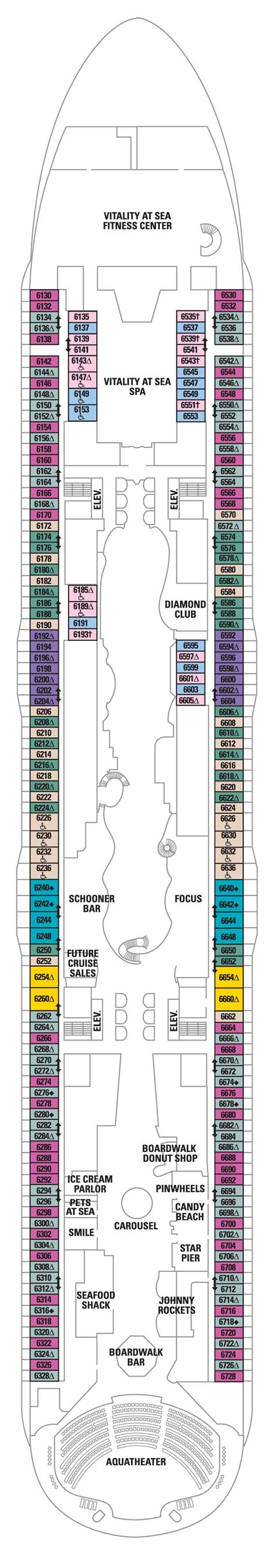 allure of the seas floor plan deck 6 allure of the seas deck plans royal caribbean blog