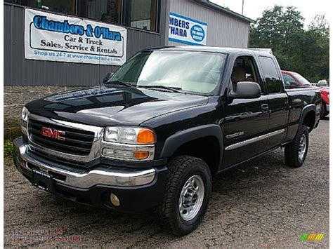 Sle Sales by 2006 Gmc 2500hd Sle Extended Cab 4x4 In Onyx Black