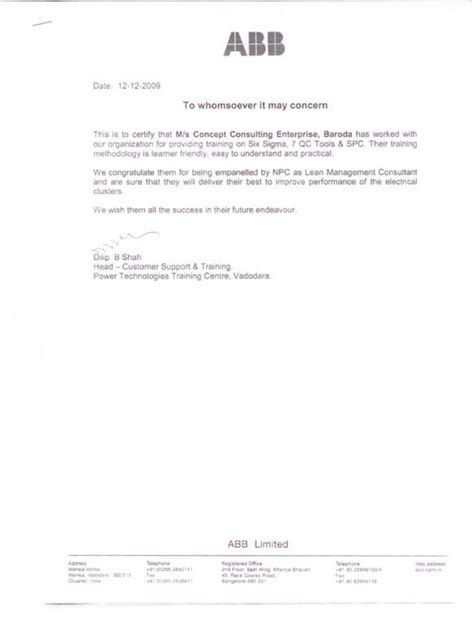 Award Letter To Consultant awards recognition business consultant