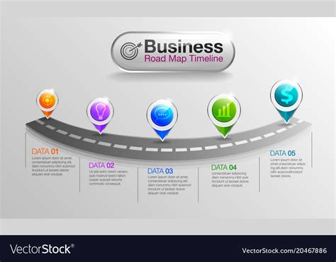 infographic business roadmap timeline royalty  vector