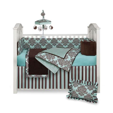 Brown Baby Crib Bedding Turquoise And Brown Baby Bedding Bailey Baby Crib Bedding Set Monstermarketplace Baby