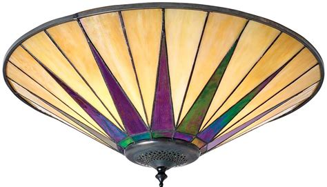 Dark Star Tiffany Large 2 L Flush Art Deco Style Deco Style Ceiling Lights
